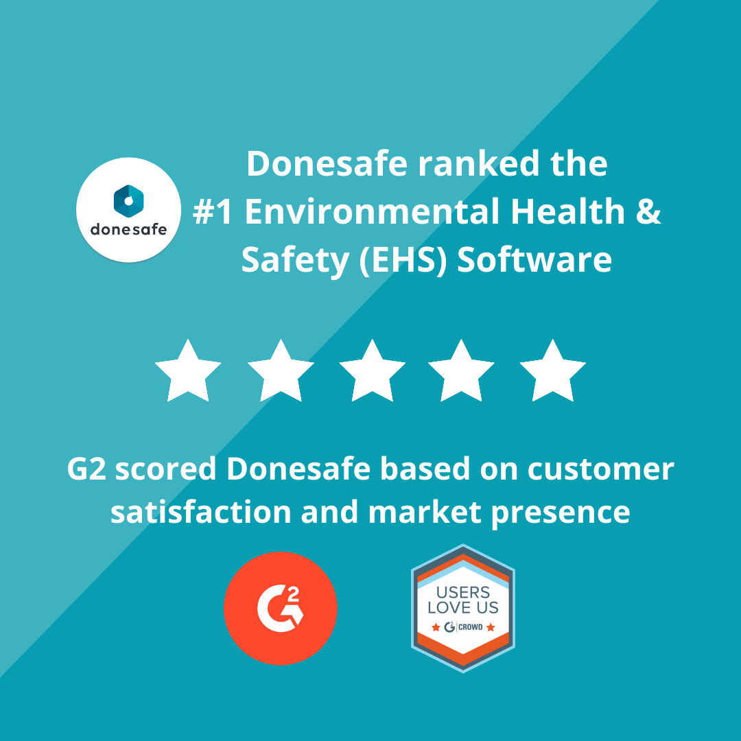 G2 and Donesafe report - #1 EHS software report